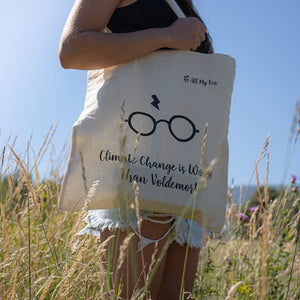 """Climate Change is Worse Than Voldemort"" Tote Bag"