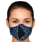 Wolf Head Star Face Mask