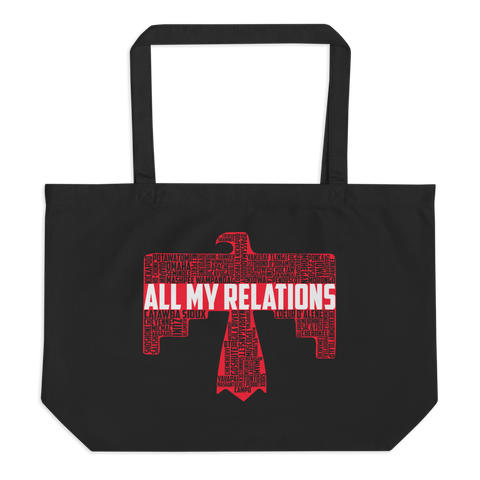 All My Relations - Thunderbird Tribal Tote Bag