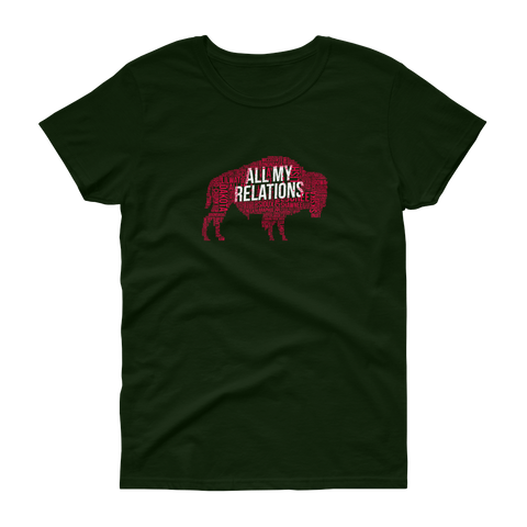 All My Relations Buffalo Tribal Women's T-Shirt