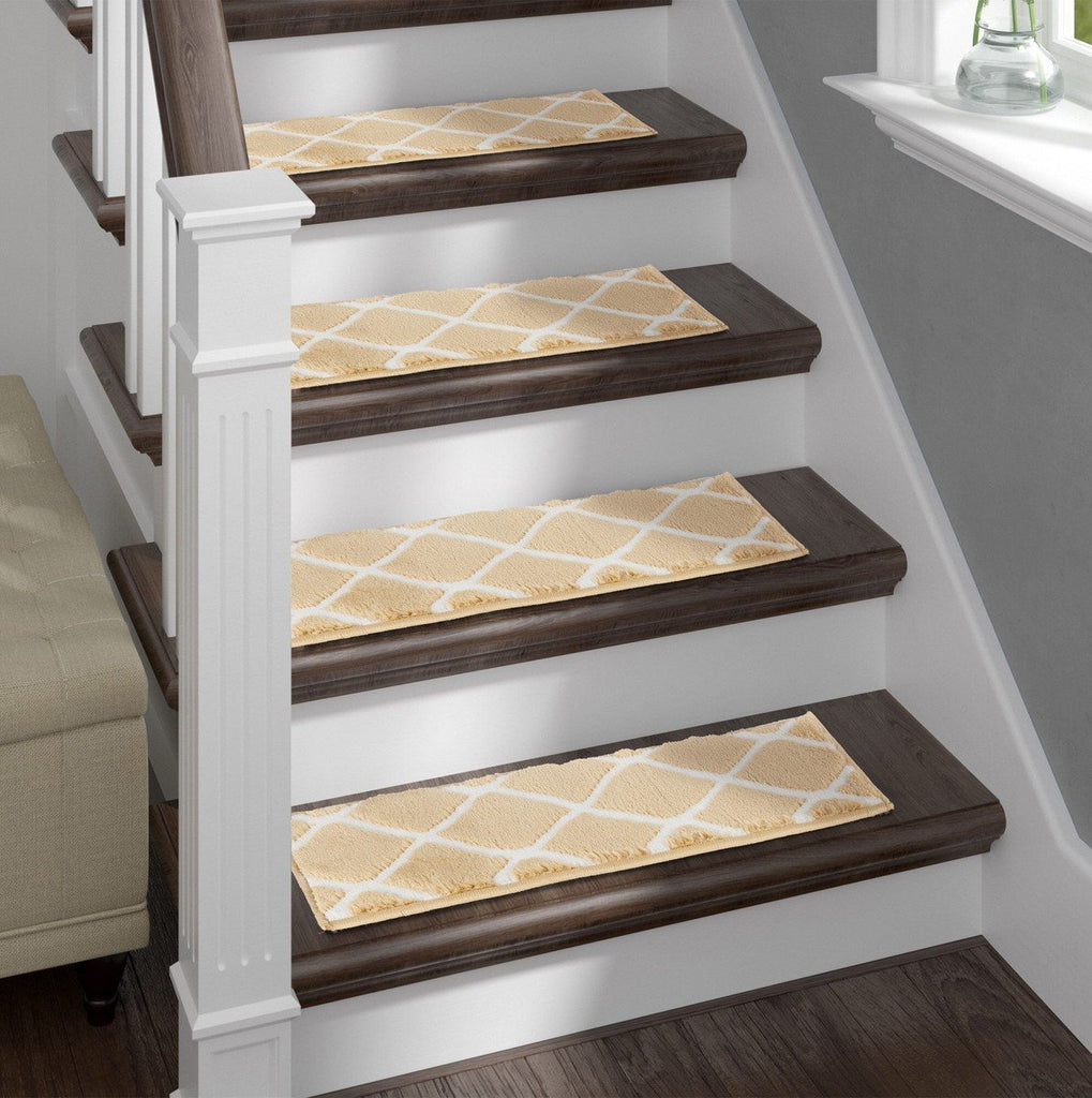Willow Beige Soft Stair Treads, Pack of 13 with Double Sided Tape