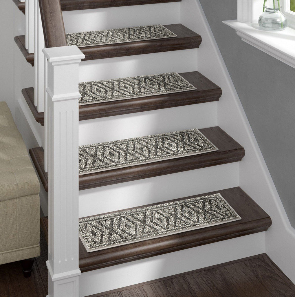 Shaggy Stair Treads Stonesfield, Pack of 13 with Double Sided Tape