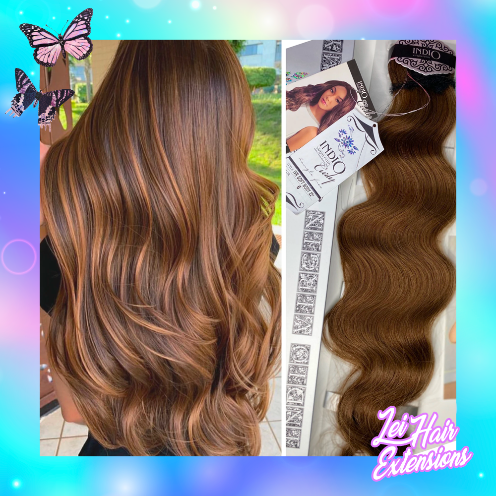 Golden brown wavy 22""