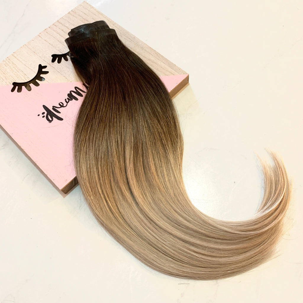 "Fit clips ashy blonde 18"" 150g"