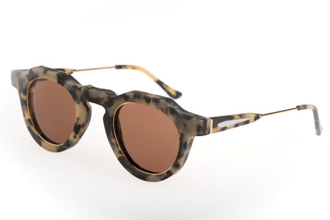 Big No Rim leopard brown lenses