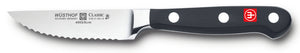 4003-7 wusthof classic serrated paring knife. 3 inches. riveted handle