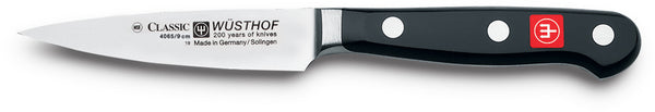 4065-7/09 wusthof classic demi bolster paring knife. 3.5 inches. riveted handle.