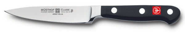4066-7/10 wusthof classic paring knife. 4 inches. riveted handle.