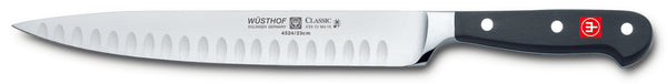 4524-7/23 wusthof classic 9 inch hollow edge carving knife. riveted handle.