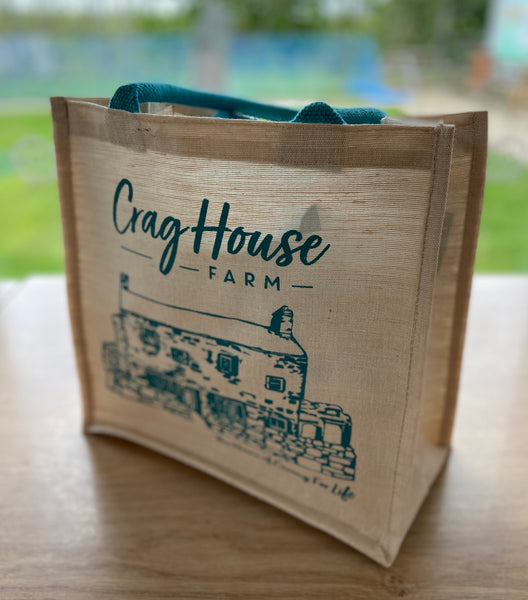 Crag House Farm Jute Bag - Bag For Life