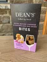 Dean's Extra Mature Cheddar Bites with Caramelised Red Onion (90g)