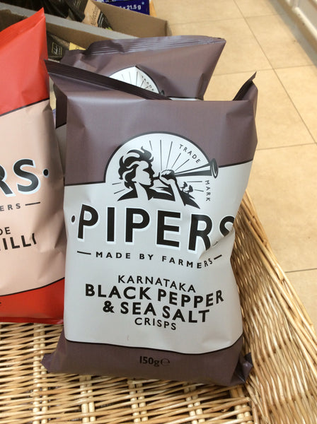 Pipers Crisps - Black Pepper & Sea Salt (150g)