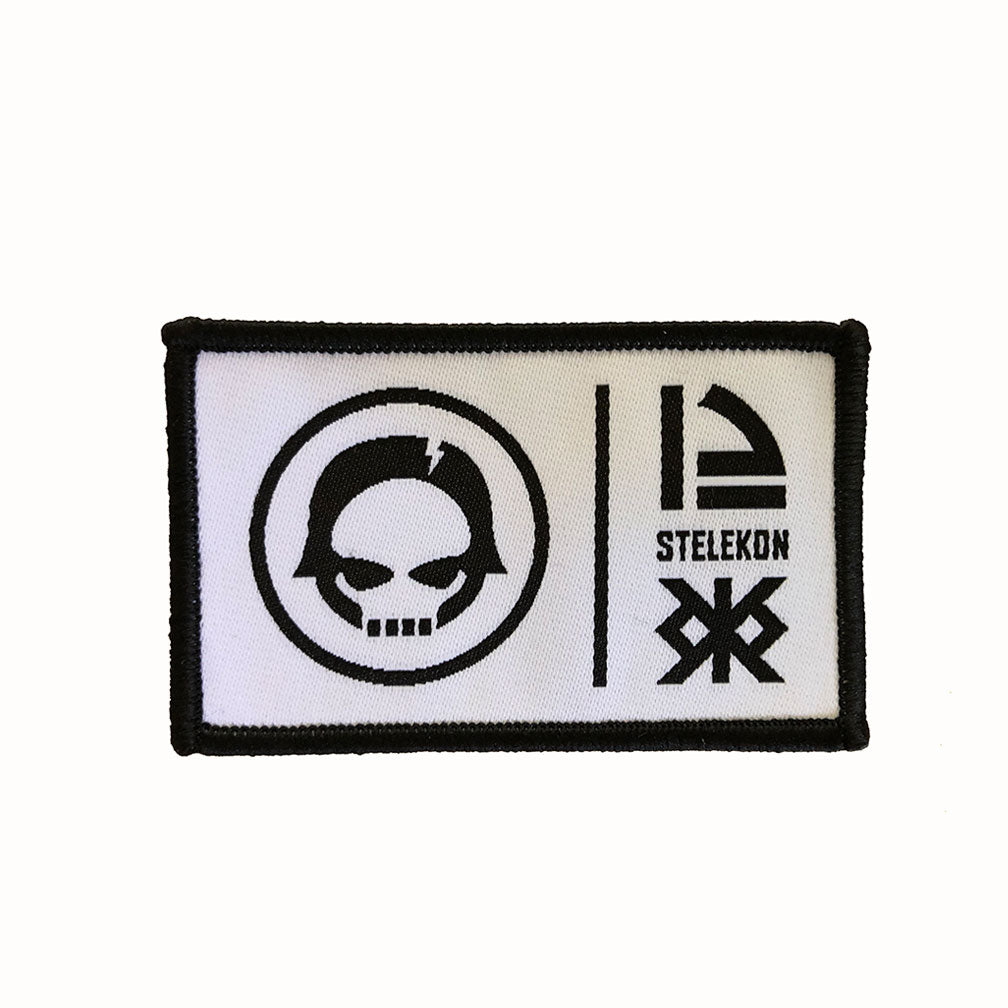 STELEKON 12 Patch - black on white