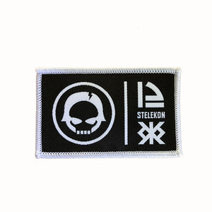 STELEKON 12 Patch - white on black