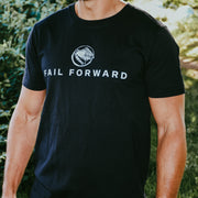FAIL FORWARD - BLACK TEE - FRONT PRINT