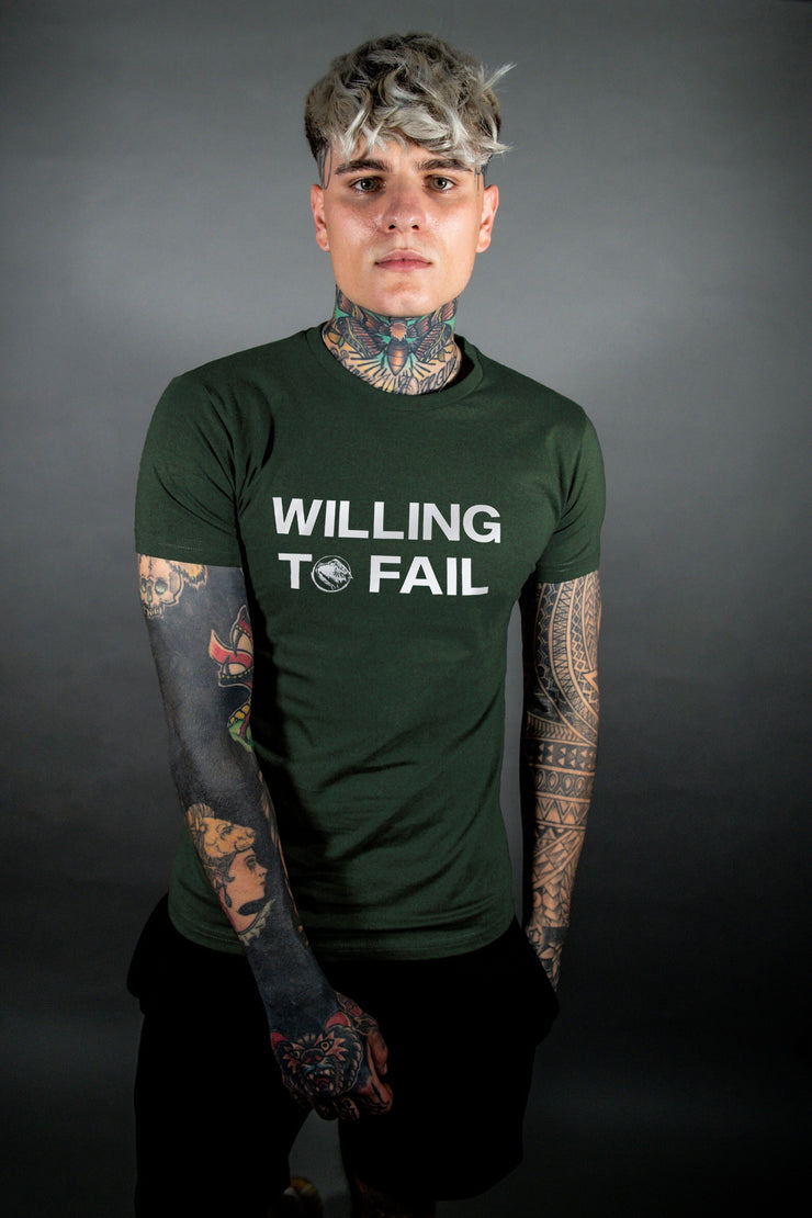 Willing to Fail Tee - Green