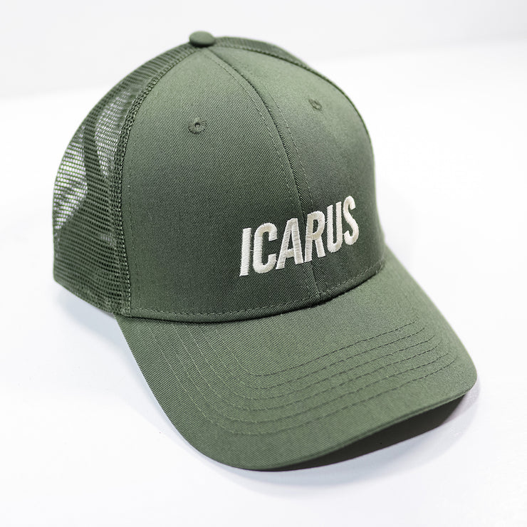 Icarus Round Trucker - Military & Off White
