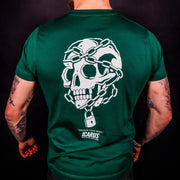 """Unlock Your Mind"" Skull - Front & Back Green Tee"