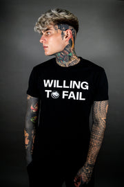 Willing to Fail Tee - Black