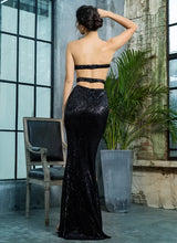 Load image into Gallery viewer, Black Sequin Gown - monach-butterfly