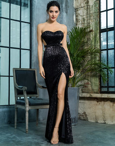 Black Sequin Gown - monach-butterfly