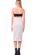 Load image into Gallery viewer, High Waist Pocket Midi Skirt