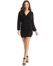 Load image into Gallery viewer, Long Sleeve Mini Dress - Black - monach-butterfly