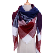 Load image into Gallery viewer, Plaid warm scarves shawls Pashmina