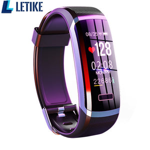 Letike GT101 Smart watch men Bracelet real-time monitor heart rate & sleeping best Couple Fitness Tracker pink fit women - monach-butterfly