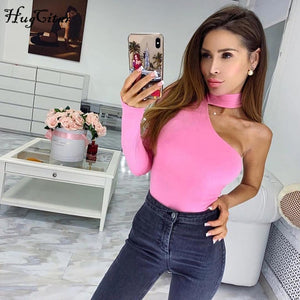 Halter one shoulder sexy bodysuit leotard women new fashion - monach-butterfly