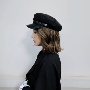 Autumn Winter Wool Sailor Hat For Women &Men