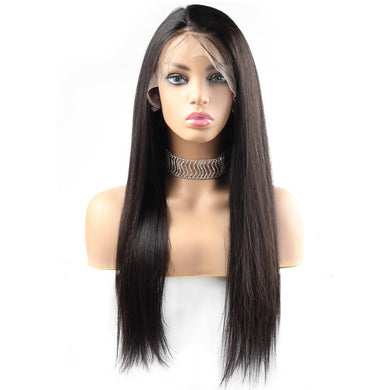 Straight Remy Brazilian Wig Human Hair  Lace Front Wig 8-24 250 Density Lace Wig