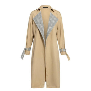 Vintage long turn down collar Trench Coat