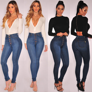 High Waist stretchy Jegging Denim Jeans - monach-butterfly