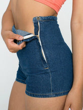 Load image into Gallery viewer, Slim High Waist Jeans Denim Tap Short