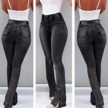 Load image into Gallery viewer, High Waist Flare Jeans Skinny Denim
