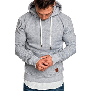 Men's Long Sleeve Solid Hoodie - monach-butterfly