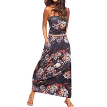 Load image into Gallery viewer, Womens Bandeau Off Shoulder Long Solid Sundress - monach-butterfly