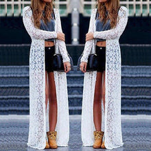 Load image into Gallery viewer, Women Ladies Summer Long Sleeve Beach Lace Cardigan Blouse Long Tops - monach-butterfly