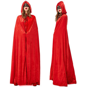 Women and Men Witch / Succubus Cloak Halloween Costumes - monach-butterfly