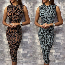Load image into Gallery viewer, Women's vintage Bodycon Sleeveles Pencil Dress - monach-butterfly