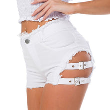 Load image into Gallery viewer, Sexy Summer High Waist  Ripped Hole Denim Shorts - monach-butterfly