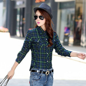 Women's Velvet Thicke Plaid Shirt  Jacket