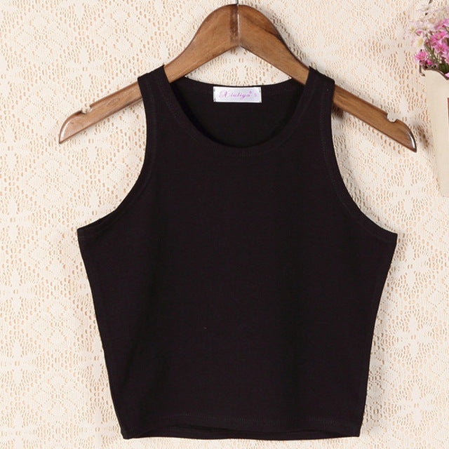 woman's clothing sleeveless crop top - monach-butterfly