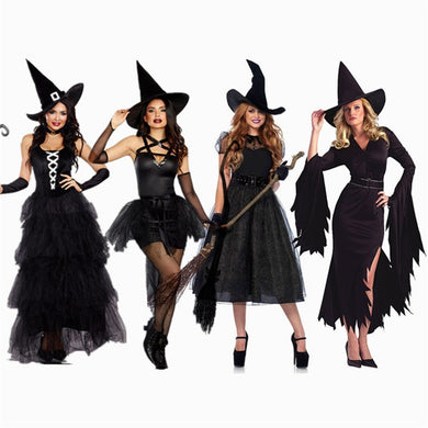 Women  Witch Halloween  Costumes Queen Carnival Party Cosplay Fancy Dress - monach-butterfly