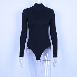 Casual turtleneck bodysuit long sleeve leotard - monach-butterfly