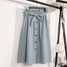 Load image into Gallery viewer, Midi Knee Length Korean  Pleated School Skirt - monach-butterfly