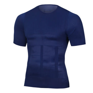 Men's Slimming Shaper Posture Vest Male Belly Abdomen For Corrector Compression Body building Fat Burn Chest Tummy Shirt Corset - monach-butterfly