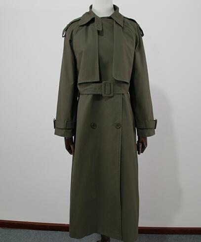 Double breasted Long Trench coat with belt - monach-butterfly