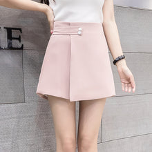 Load image into Gallery viewer, Women Shorts Skirts  High Waist Shorts Female Casual Loose Culottes Woman Black/Pink/White Summer Shorts - monach-butterfly